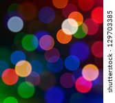 Defocused Christmas lights, vector blur background. - stock vector