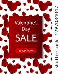 valentines day vertical sale... | Shutterstock .eps vector #1297034047