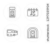 4 line train ticket  bus  date  ... | Shutterstock .eps vector #1297035934