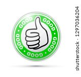 good thumbs up icon | Shutterstock .eps vector #1297036204