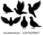 Black Silhouette. Icon Set Of...
