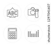 4 line chalkboard  calculator ...   Shutterstock .eps vector #1297041607