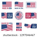 Made In The Usa Labels Set ...
