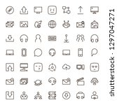 message icon set. collection of ... | Shutterstock .eps vector #1297047271