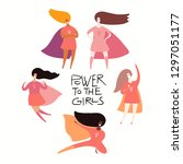 happy womens day card  poster ... | Shutterstock .eps vector #1297051177