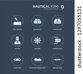 9 icons set such as salt water  ... | Shutterstock .eps vector #1297055131