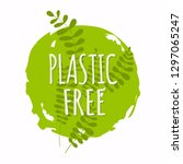 plastic free organic products...   Shutterstock .eps vector #1297065247