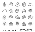 set of bakery icons  such as... | Shutterstock .eps vector #1297066171