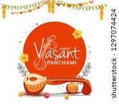 illustration of happy vasant... | Shutterstock .eps vector #1297074424