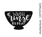 wash rinse repeat hand drawn... | Shutterstock .eps vector #1297074631