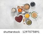 assortment of colorful legumes. ...   Shutterstock . vector #1297075891