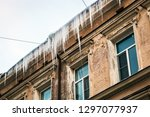 roofs of houses and windows in... | Shutterstock . vector #1297077937