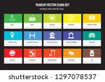 set of 15 flat museum icons  ... | Shutterstock .eps vector #1297078537