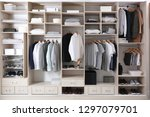 stylish clothes  shoes and home ... | Shutterstock . vector #1297079701