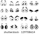 outlined cartoon eyes set | Shutterstock .eps vector #129708614