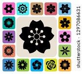 set of flower icons... | Shutterstock .eps vector #1297086631