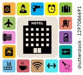 hotel and travel icon set...   Shutterstock .eps vector #1297086691