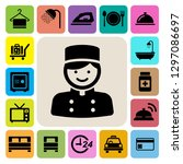 hotel and travel icon set...   Shutterstock .eps vector #1297086697