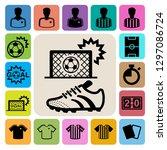 soccer icons set. illustration...   Shutterstock .eps vector #1297086724