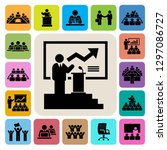 business and management icons...   Shutterstock .eps vector #1297086727