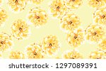 pastel roses or peony  floral...   Shutterstock .eps vector #1297089391