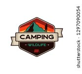 camping wildlife badge.... | Shutterstock .eps vector #1297090054
