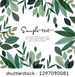 vector illustration of green... | Shutterstock .eps vector #1297090081