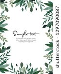 vector illustration of green... | Shutterstock .eps vector #1297090087