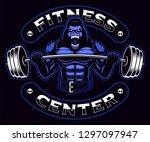 sport mascot with a gorilla... | Shutterstock .eps vector #1297097947
