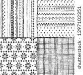 seamless knitting pattern.... | Shutterstock .eps vector #1297102351