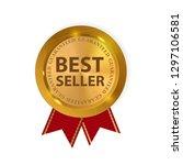 gold label best seller. ... | Shutterstock . vector #1297106581