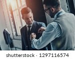 best suit. young fashionable...   Shutterstock . vector #1297116574