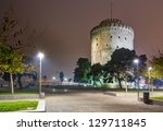the white tower at night ... | Shutterstock . vector #129711845