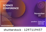 science conference invitation... | Shutterstock .eps vector #1297119457