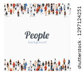 large group of people on white... | Shutterstock .eps vector #1297124251