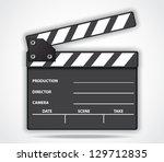 movie clapper board | Shutterstock .eps vector #129712835