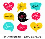 funny colorful speech bubbles...   Shutterstock .eps vector #1297137601