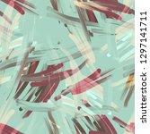 abstract seamless pattern. hand ... | Shutterstock . vector #1297141711