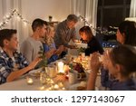 celebration and family concept  ... | Shutterstock . vector #1297143067