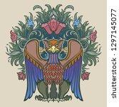 decorative griffin. medieval... | Shutterstock .eps vector #1297145077