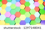 hipster colored hexagons for...