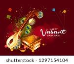 illustration of happy vasant... | Shutterstock .eps vector #1297154104