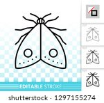 moth thin line icon. outline... | Shutterstock .eps vector #1297155274