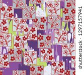 seamless pattern made up of...   Shutterstock .eps vector #1297157941