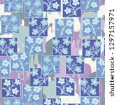seamless pattern made up of...   Shutterstock .eps vector #1297157971
