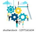 concept of teamwork  people...   Shutterstock .eps vector #1297161634