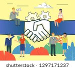 successful business deal ... | Shutterstock .eps vector #1297171237