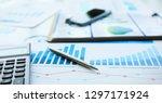 financial statistics documents... | Shutterstock . vector #1297171924