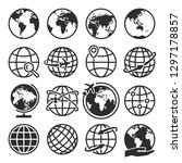 different earth icons set.... | Shutterstock .eps vector #1297178857