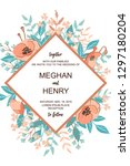 classic and refind wedding... | Shutterstock .eps vector #1297180204